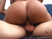 Super hot body real Arab slut gets